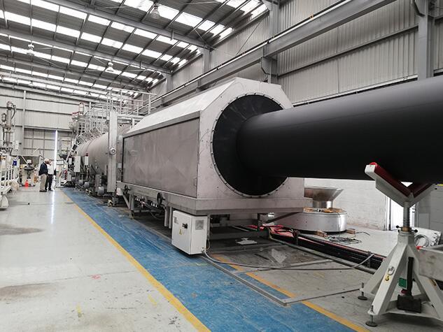 墨西哥的管材挤出生产线拥有世界上最大的可调节熔体间隙